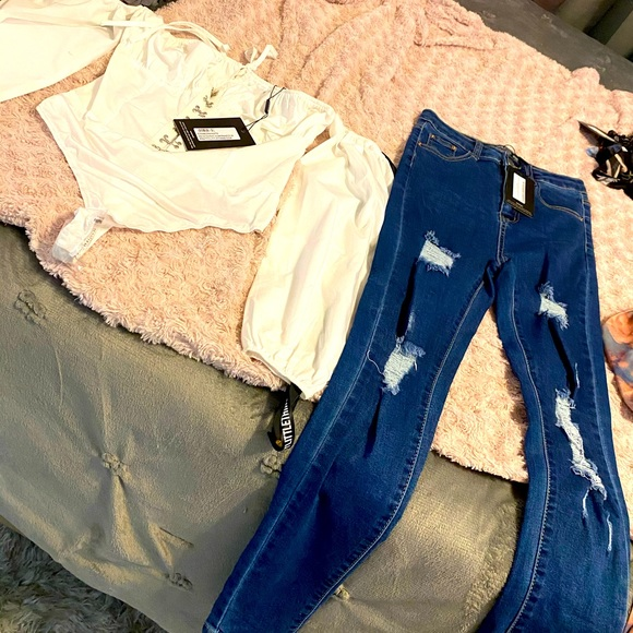PLT shirt & Jeans (Brand New) Price incl. outfit